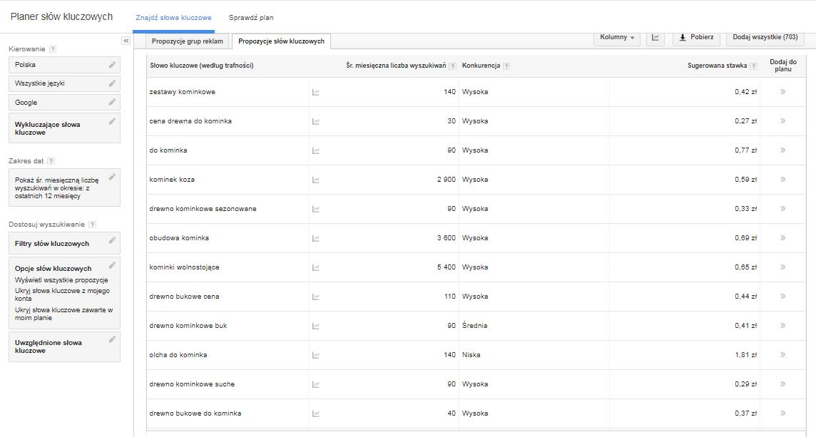Google Keyword Planner - screenshot (2)